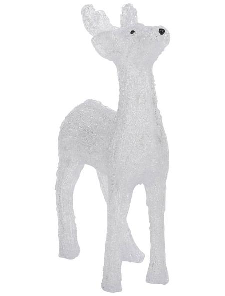 KONSTSMIDE Weihnachtsfigur, Rentier, Höhe: 60 cm, Netzbetrieb