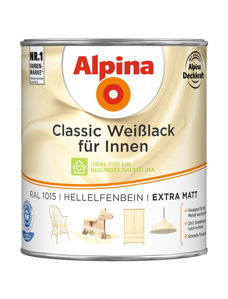 alpina Weißlack »Classic«, hellelfenbein, matt