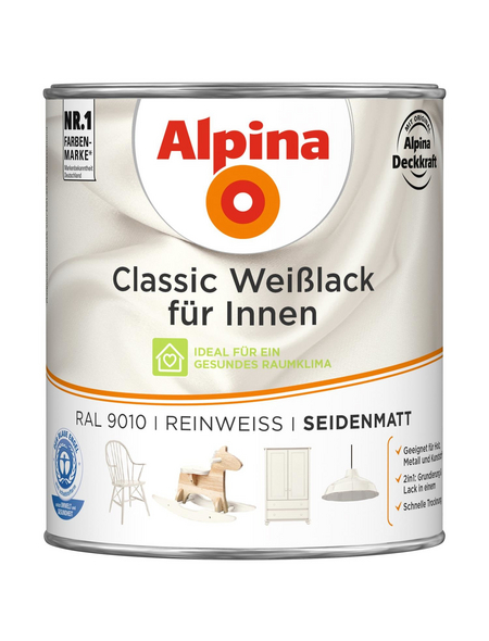 alpina Weißlack »Classic«, reinweiss, seidenmatt
