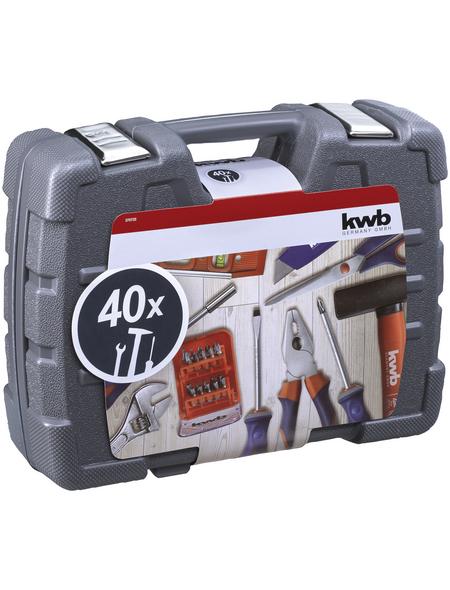 KWB Werkzeugkoffer, Kunststoff, bestückt, 40-teilig