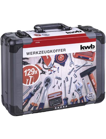 KWB Werkzeugkoffer, Metall, bestückt, 129-teilig