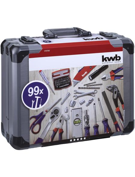 KWB Werkzeugkoffer, Metall, bestückt, 99-teilig