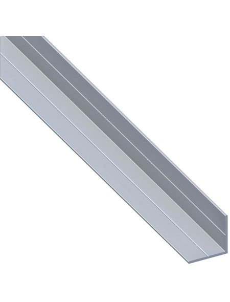 alfer® aluminium Winkelprofil combitech® Alu silber 2500 x 23,5 x 23,5 x 1,5 mm