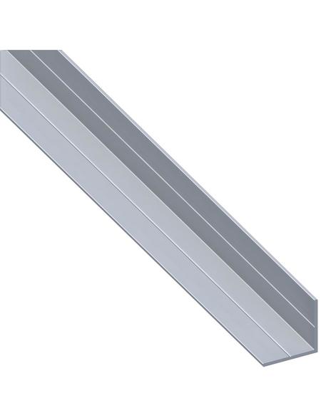 alfer® aluminium Winkelprofil combitech® Alu silber 2500 x 7,5 x 7,5 x 1 mm