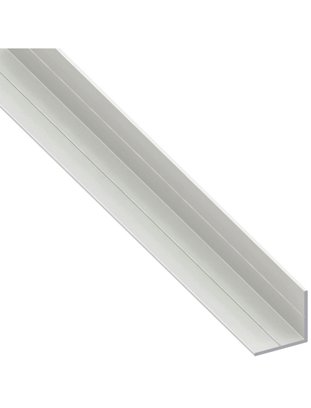 alfer® aluminium Winkelprofil combitech® PVC weiß 1000 x 11,5 x 11,5 x 1,5 mm