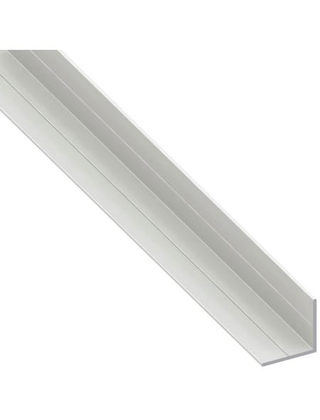 alfer® aluminium Winkelprofil combitech® PVC weiß 1000 x 7,5 x 7,5 x 1 mm