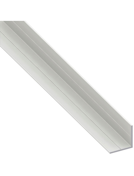 alfer® aluminium Winkelprofil combitech® PVC weiß 2500 x 19,5 x 19,5 x 1,5 mm