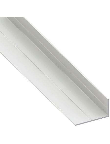 alfer® aluminium Winkelprofil PVC weiß 2500 x 53,6 x 29,5 x 2,4 mm