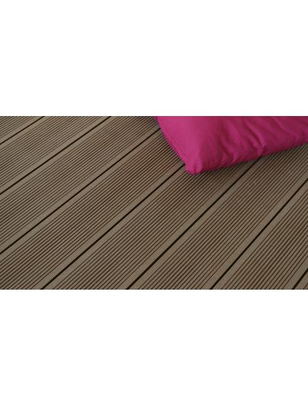 MR. GARDENER WPC-Terrassendiele »gebürstet Kundenwunschlänge«, Breite: 14,5 cm, gebürstet