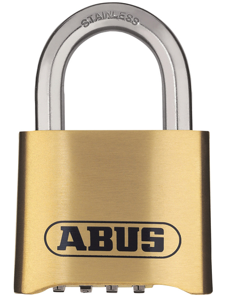ABUS Zahlenschloss, LxBxH: 25 x 50 x 75 mm, Messing, Messing