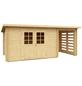 MR. GARDENER Anbau für Blockbohlenhaus »Malta 1«, Holz-Thumbnail