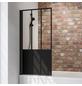 SCHULTE Badewannentrennwand »Black Style Komfort«, BxH: 80 x 140 cm, Einscheiben-Sicherheitsglas (ESG)-Thumbnail