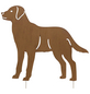 Beetstecker, Hund, rostfarben, Metall-Thumbnail