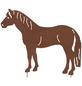 Beetstecker, Pferd, rostfarben, Metall-Thumbnail