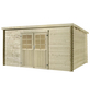 MR. GARDENER Blockbohlenhaus »Malta 4«, BxT: 416 x 339 cm, Pultdach-Thumbnail