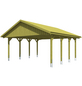 SKANHOLZ Carport, B x T x H: 620 x 600 x 354 cm, grün-Thumbnail