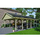 SKANHOLZ Carport, B x T x H: 620 x 900 x 354 cm, grün-Thumbnail