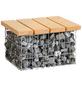 BELLISSA Couchtisch, BxHxT: 55 x 34 x 55 cm, Aluminium/Douglasienholz-Thumbnail