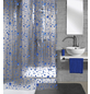 KLEINE WOLKE Duschvorhang, BxH: 180 x 200 cm, Tropfen, marineblau-Thumbnail