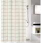 KLEINE WOLKE Duschvorhang »Grid«, BxH: 180 x 200 cm, Streifen, goldfarben/schwarz-Thumbnail