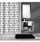 KLEINE WOLKE Duschvorhang »Hello«, BxH: 180 x 200 cm, Schriftzug, weiß/schwarz-Thumbnail