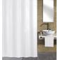 KLEINE WOLKE Duschvorhang »Kito«, BxH: 120 x 200 cm, Uni, weiß-Thumbnail