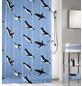 KLEINE WOLKE Duschvorhang »Pinguin«, BxH: 180 x 200 cm, Pinguin, blau-Thumbnail