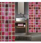 KLEINE WOLKE Duschvorhang »Sonny«, BxH: 180 x 200 cm, Quadrate, rubinrot-Thumbnail