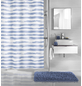 KLEINE WOLKE Duschvorhang »Stripy«, BxH: 180 x 200 cm, Streifen, blau-Thumbnail
