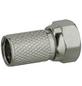 SCHWAIGER F-Stecker, D.7 mm 2 Stück, Silber, Metall, Koaxialkabel-Thumbnail