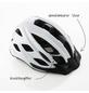 FISCHER FAHRRAEDER Fahrradhelm, Urban Lano, L/XL, Weiß, Klickverschluss-Thumbnail