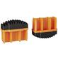 KRAUSE Fußstopfen, BxHxT: 6,4 x 5,3 x 2,5 cm, Kunststoff, schwarz/orange-Thumbnail