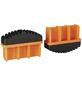KRAUSE Fußstopfen, BxHxT: 7,7 x 5,7 x 2,5 cm, Kunststoff, schwarz/orange-Thumbnail