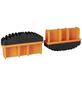 KRAUSE Fußstopfen, BxHxT: 9,7 x 5,7 x 2,5 cm, Kunststoff, schwarz/orange-Thumbnail