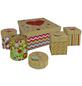 Kartonagen Happy Boxes, 5 teilig, mit Glimmer, 1x gross + 4x klein-Thumbnail