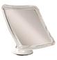 KRISTALLFORM Kosmetikspiegel, quadratisch, BxH: 16 x 16 cm, weiß-Thumbnail
