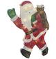 KONSTSMIDE LED-Fensterbild, Weihnachtsmann, Kunststoff, weiß/rot/schwarz/grün-Thumbnail