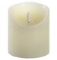 CASAYA LED-Kerze »3D Rustic FLAME«, Ø 9 cm, creme, Timer, inkl. Batterien-Thumbnail
