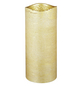 CASAYA LED-Kerze »Rustic«, Ø 7,5 cm, goldfarben, 3D-Flacker-Effekt, Timer-Thumbnail
