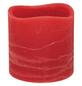 CASAYA LED-Kerze »Rustic«, Ø 7,5 cm, rot, 3D-Flacker-Effekt, Timer-Thumbnail