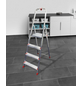 Leiter, 4 Stufen, Aluminium/Stahl-Thumbnail