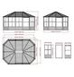 SOJAG Pavillon »Charleston«, Ovaldach, oval, BxHxT: 489 x 281 x 384 cm-Thumbnail