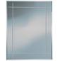 KRISTALLFORM Rillenschliffspiegel »Karo«, eckig, BxH: 55 x 70 cm, silberfarben-Thumbnail