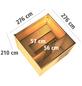 KARIBU Saunahaus »Kandau«, BxTxH: 276 x 276 x 210 cm, 9 kW Ofen mit int. Steuerung-Thumbnail