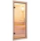 KARIBU Saunatür, transparent|natur, geeignet für: Wandstärken von 38 oder 40 mm, transparent|natur-Thumbnail