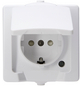 KOPP Schutzkontakt-Steckdose »NAUTIC«, polarweiß, Kunststoff, 250V-Thumbnail