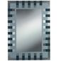 KRISTALLFORM Siebdruckspiegel »Enzo«, rechteckig, BxH: 50 x 70 cm, anthrazit|silberfarben-Thumbnail