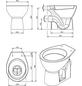 aquaSu® Stand WC »Universal«, Tiefspüler, beige, mit Spülrand-Thumbnail