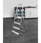 Stehleiter, 4 Stufen, Aluminium/Stahl-Thumbnail