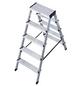 KRAUSE Stufen-Doppelleiter »MONTO Dopplo«, 10 Sprossen, Aluminium-Thumbnail